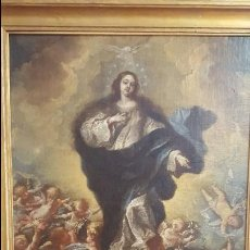 Pintura antigua óleo siglo xvii sobre lienzo inmaculada atribuida a antonio palomino