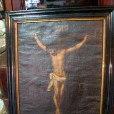Oleo sobre lienzo, Cristo, cuadro religioso del siglo XVIII