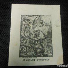 Arte: SIGLO XIX GRABADO SAN CARLOS BORROMEO LIT. VALENCIA - RELIGION ITALIA MILLAN. Lote 112649631
