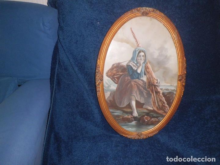 ACUARELA Y MARCO IMPERIO MAGNIFICA (Arte - Arte Religioso - Pintura Religiosa - Acuarela)