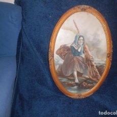 Arte: ACUARELA Y MARCO IMPERIO MAGNIFICA. Lote 112661647