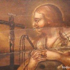 Arte: MARÍA MAGDALENA, UN ÓLEO PINTADO SOBRE MADERA - RETABLO DE UNA IGLESIA, DEL SIGLO XVIII, PORTUGAL. Lote 112666183