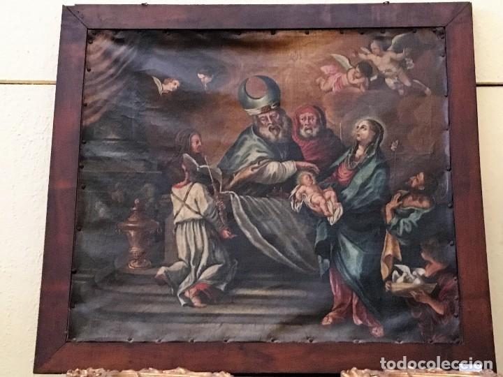 OLEO ESCUELA FLAMENCA S.XVIII. (Arte - Arte Religioso - Pintura Religiosa - Oleo)
