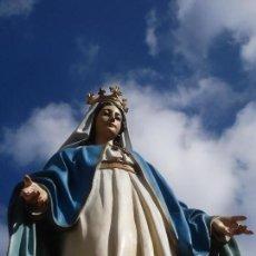 Arte: VIRGEN MILAGROSA DE EL ARTE CRISTIANO PASTA DE MADERA GRANDES MEDIDAS. Lote 112773379