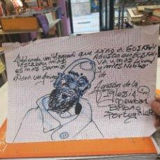 Arte: DIBUJO DE AGUSTIN DE LA IGLESIA,HERMANO DEL FAMOSO DIRECTOR DE CINE ALEX DE LA IGLESIA.¡OPORTUNIDAD!. Lote 112783615