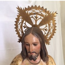 Arte: FIGURA SAGRADO CORAZÓN DE JESÚS POLICROMADO 72 CM. Lote 112819531
