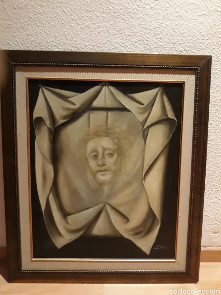 Arte: Cuadro Santa Faz al óleo - Foto 3 - 112828394