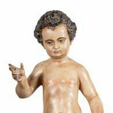 Arte: NIÑO JESÚS ESTILO SEVILLANO DE (MARTÍNEZ MONTAÑÉS)EN RESINA PATINANDO(ESTOFADO) MEDIDAS: 30,40 50CM. Lote 112885875