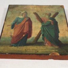 Arte: TABLA CON LITOGRAFIA RELIGIOSA. Lote 112950247