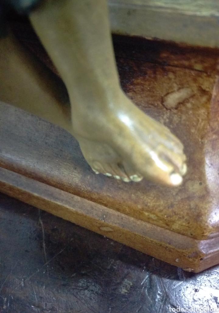 Arte: Excepcional figura de Olot San Antonio dando de comer a los pobres - Foto 8 - 112963903