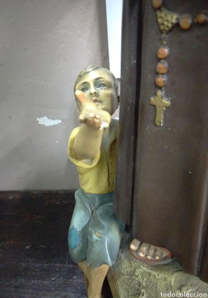 Arte: Excepcional figura de Olot San Antonio dando de comer a los pobres - Foto 9 - 112963903