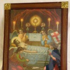Arte: GRAN CUADRO, ENTIERRO DE JESUS, MARCO ÉPOCA .PRINCIPIOS SIGLO XX. Lote 112981811