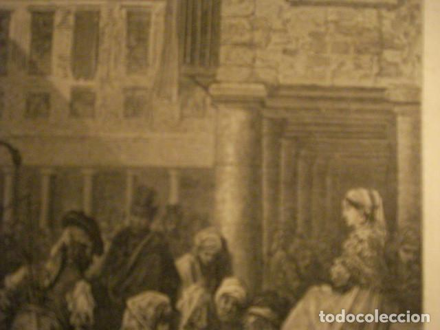 Arte: PRECIOSO GRABADO FRANCES DE VITORIA - GUSTAVO DORÉ - VIAJE POR ESPAÑA -1ª EDICION FRANCESA - - Foto 2 - 113125099
