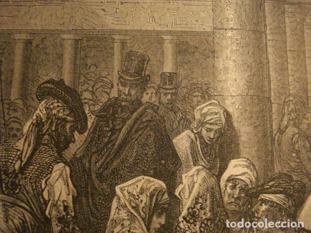 Arte: PRECIOSO GRABADO FRANCES DE VITORIA - GUSTAVO DORÉ - VIAJE POR ESPAÑA -1ª EDICION FRANCESA - - Foto 3 - 113125099