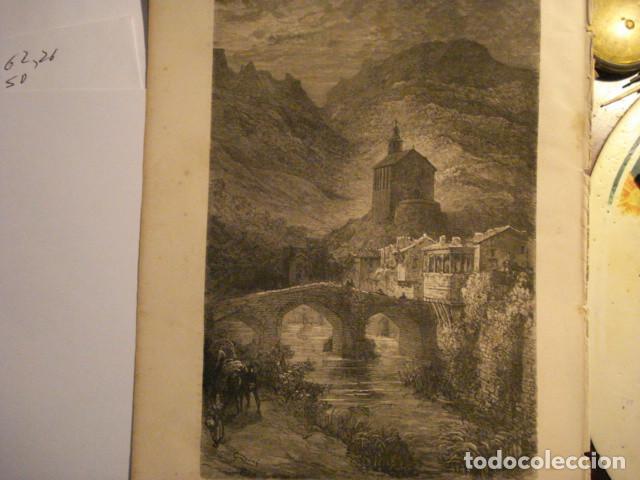 GRABADO FRANCES DE ISASONDO TOLOSA GUIPUZ - GUSTAVO DORÉ - VIAJE POR ESPAÑA -1ª EDICION FRANCESA - (Arte - Arte Religioso - Grabados)