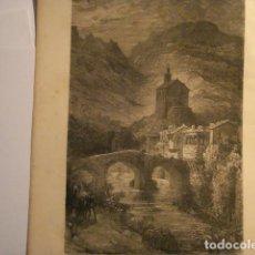 Arte: GRABADO FRANCES DE ISASONDO TOLOSA GUIPUZ - GUSTAVO DORÉ - VIAJE POR ESPAÑA -1ª EDICION FRANCESA - . Lote 113125159