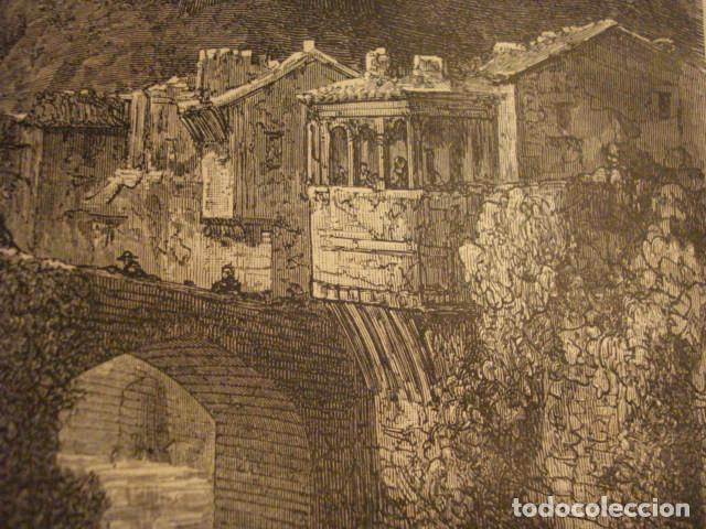Arte: GRABADO FRANCES DE ISASONDO TOLOSA GUIPUZ - GUSTAVO DORÉ - VIAJE POR ESPAÑA -1ª EDICION FRANCESA - - Foto 3 - 113125159