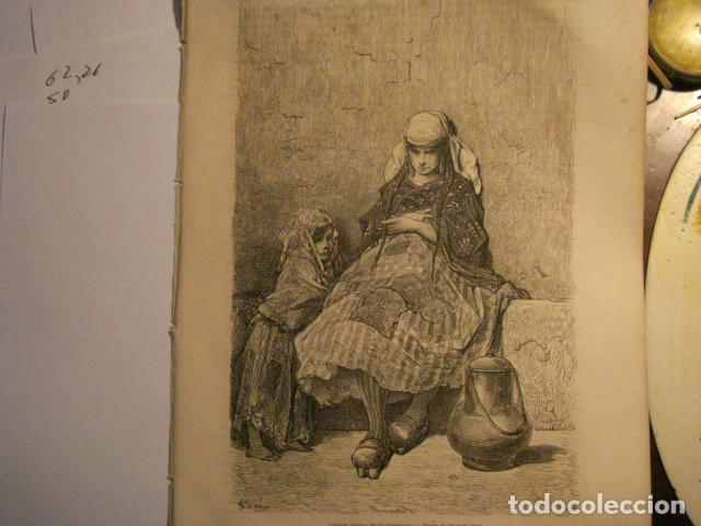 GRABADO FRANCES DE LECHERA VASCA GUIPUZCOA - GUSTAVO DORÉ -VIAJE POR ESPAÑA -1ª EDICION FRANCESA - (Arte - Arte Religioso - Grabados)