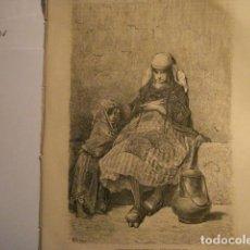 Arte: GRABADO FRANCES DE LECHERA VASCA GUIPUZCOA - GUSTAVO DORÉ -VIAJE POR ESPAÑA -1ª EDICION FRANCESA - . Lote 113125219