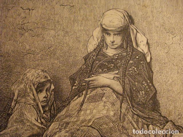 Arte: GRABADO FRANCES DE LECHERA VASCA GUIPUZCOA - GUSTAVO DORÉ -VIAJE POR ESPAÑA -1ª EDICION FRANCESA - - Foto 2 - 113125219
