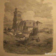 Arte: GRABADO DE ARCOS DE LA FRONTERA CADIZ - GUSTAVO DORÉ -VIAJE POR ESPAÑA -1ª EDICION FRANCESA - . Lote 113125299