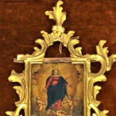 Arte: LA ASUNCIÓN DE LA VIRGEN. ÓLEO SOBRE COBRE. MARCO DE ÉPOCA. ESPAÑA. XVIII-XIX. Lote 113149539