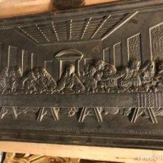 Arte: EXCEPCIONAL RELIEVE DE LA SANTA CENA, PLACA EN HIERRO ORIGINAL. Lote 113192851