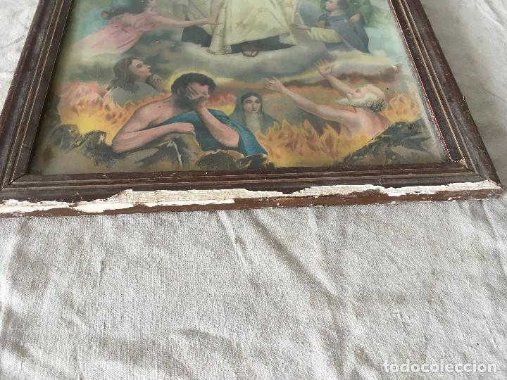 Arte: CUADRO ANTIGUO LÁMINA VIRGEN DEL CARMEN - Foto 12 - 113207895