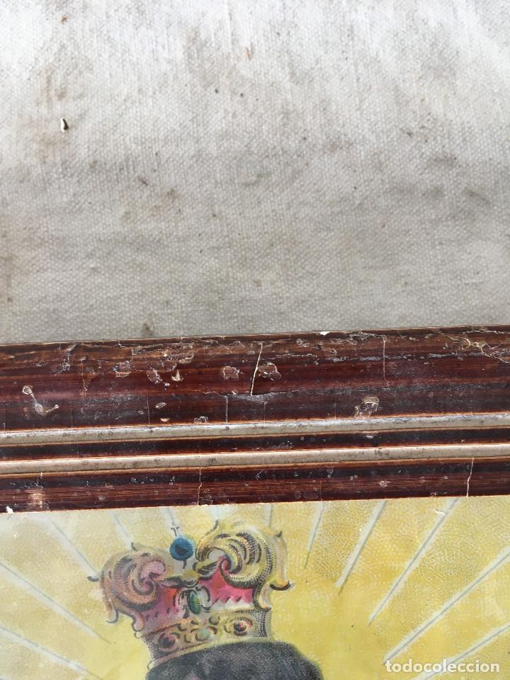 Arte: CUADRO ANTIGUO LÁMINA VIRGEN DEL CARMEN - Foto 15 - 113207895
