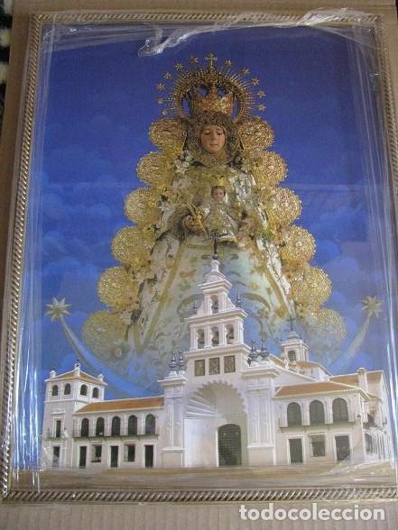 VIRGEN DEL ROCIO (LITOGRAFIA ENMARCADA) 33X43 (Arte - Arte Religioso - Litografías)