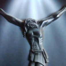 Arte: CUADRO CRISTO TALLA EN 3D YESO PINTADO,. Lote 113314434