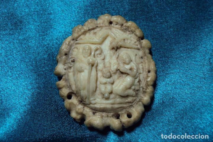 Arte: Nacimiento tallado en roseta de cuerna de ciervo - Foto 2 - 113369335