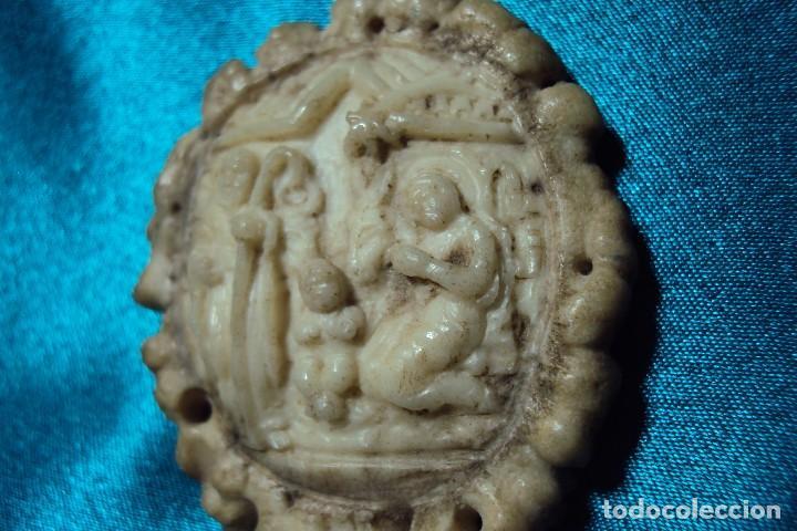 Arte: Nacimiento tallado en roseta de cuerna de ciervo - Foto 3 - 113369335