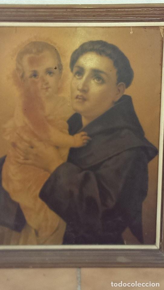 CUADRO SAN ANTONIO FINALES S XIX, ANTIGUA PIEZA COLECCION (Arte - Arte Religioso - Pintura Religiosa - Otros)
