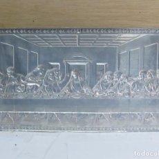 Arte: CUADRO DE LA ÚLTIMA CENA, LAMINADO EN PLATA. Lote 150057870