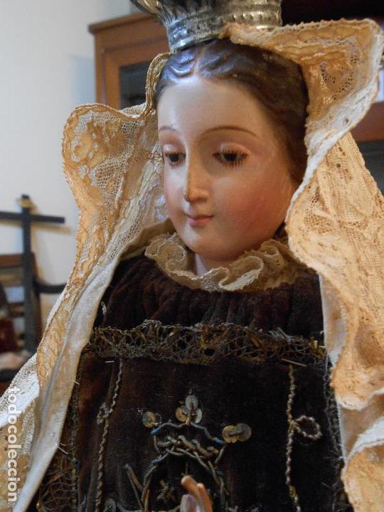 Arte: Virgen del Carmen con Niño Jesús de Cap i pota - Foto 2 - 113435547