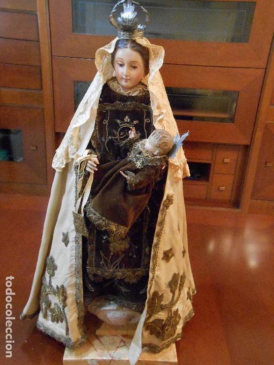 Arte: Virgen del Carmen con Niño Jesús de Cap i pota - Foto 3 - 113435547