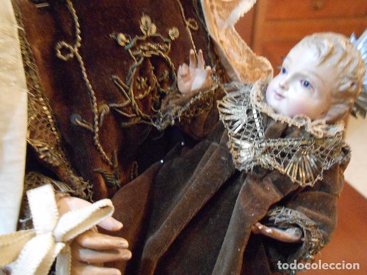 Arte: Virgen del Carmen con Niño Jesús de Cap i pota - Foto 4 - 113435547