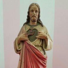 Arte: FIGURA SAGRADO CORAZÓN DE JESÚS ART RELIGIEUX TOULOUSE. 41CM. Lote 113467112