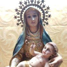 Arte: VIRGEN SEDENTE CON NIÑO EN BRAZOS . Lote 113473863