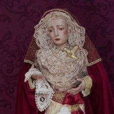 Arte: VIRGEN DOLOROSA VESTIDA DE 75 CTM DE ALTURA. Lote 113490447