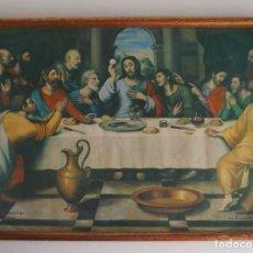 Arte: LÁMINA RELIGIOSA ESPIGAS Y AZUCENAS MURCIA. AÑO 1976. 36 X 26 CM. CON MARCO DE ÉPOCA Y CRISTAL. Lote 51556057