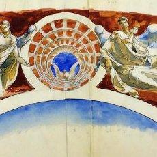 Arte: EL ESPÍRITU SANTO. ACUARELA SOBRE PAPEL. ATRIBUIDO A GORGUES. ESPAÑA. CIRCA 1950. Lote 113693187