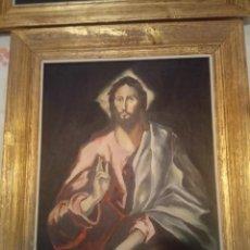 Arte: MAGNIFICA COLECCIÓN DE 13 CUADROS, LOS 12 APOSTOLES Y EL SALVADOR DE EL GRECO POR SANCHEZ-COLORADO. Lote 113808419