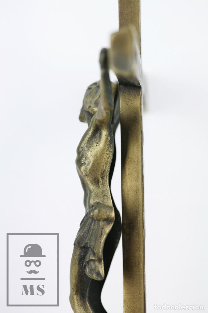 Arte: Crucifijo de Bronce para Colgar - Medidas 15,5 x 40 cm - Foto 5 - 113908655