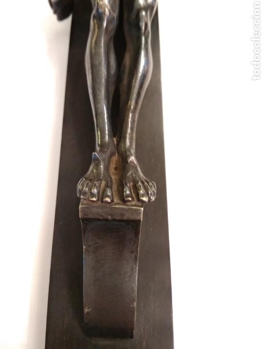 Arte: Cruz, Crucifijo de palosanto y bronce siglo XIX - Foto 9 - 113909627