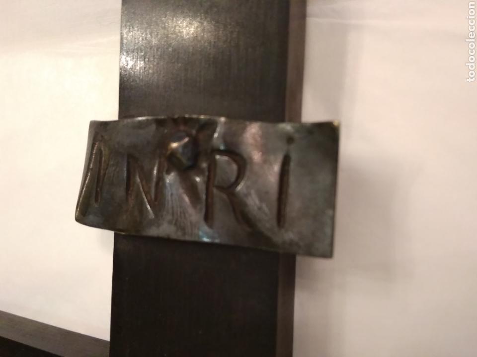 Arte: Cruz, Crucifijo de palosanto y bronce siglo XIX - Foto 18 - 113909627