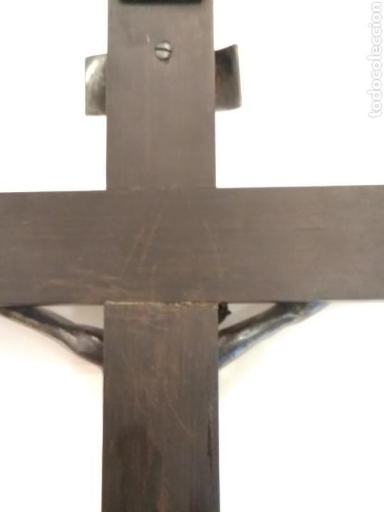 Arte: Cruz, Crucifijo de palosanto y bronce siglo XIX - Foto 19 - 113909627