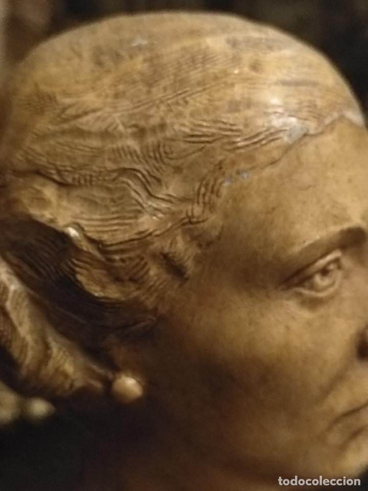 Arte: escultura busto señora mujer virgen firmada marina c. de la horgan made in england derechos reserved - Foto 9 - 113950647