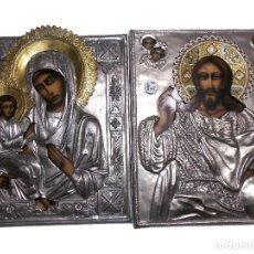 Arte: ICONO RELIGIOSO POLACO VINTAGE 2 ICONOS. Lote 205873578